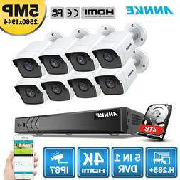 ANNKE 4K 8CH DVR 5MP HD IR 3D DNR CCTV Home Security Camera