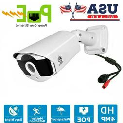 JOOAN 4MP PoE IP Security Camera Video Waterproof Home CCTV