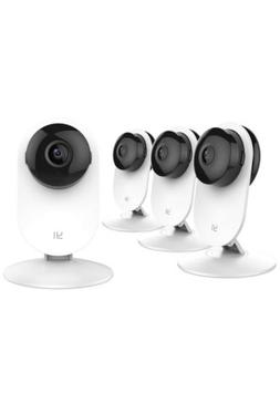 YI 4pc Home Camera, Wi-Fi IP Security Surveillance System wi