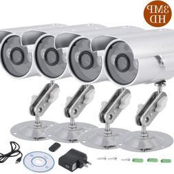 4pcs 3MP Camera Home Security 6mm Lens Night Vision Plug& Pl