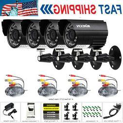 KKmoon 4X AHD 720P CCTV Cameras Kit IR CUT Color CMOS Home S