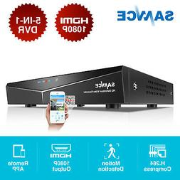 SANNCE 5in1 1080P HDMI HD 4CH DVR Security Video Recorder Ho