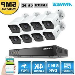 ANNKE 5in1 4K 8MP 8CH DVR 8x 5MP Home Security Camera System