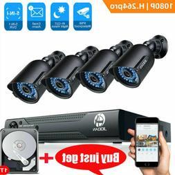 JOOAN 5IN1 8CH DVR 1080P CCTV Home Surveillance 3000TVL Secu