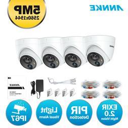 ANNKE 5MP CCTV Dome Light Alerts Camera for Home Surveillanc