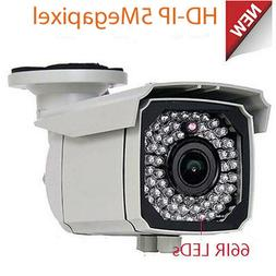 5MP IP Bullet PoE Home Surveillance Security Camera 2.8-12mm