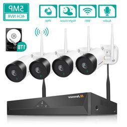 5MP Wireless Audio Wifi Security IP CCTV Camera System Outdo