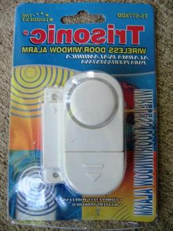 6 PACK WIRELESS DOOR AND WINDOW ENTRY ALARM BATTERY HOME SYS