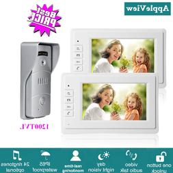 7 Inch Wired Video Intercom System With 1200TVL Video Doorbe