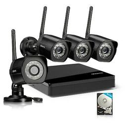 Zmodo 1080p 4CH NVR 2 Indoor Audio Wireless Camera Home Secu