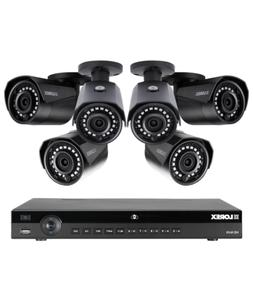 Lorex 8 channel NR9082 4K home security system with 6 weathe