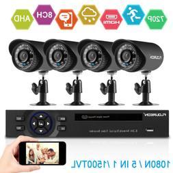 8CH 1080N DVR 1500TVL CCTV Cameras Security Surveillance Sys