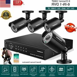8CH 1080N HDMI CCTV AHD DVR+1500TVL Home Security Camera Sys