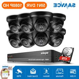 SANNCE 8CH 1080P 5IN1 CCTV DVR HD Video 2MP IR Dome Home Sec