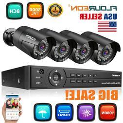 8CH 1080P AHD DVR CCTV +4x 3000TVL Camera Home Security Syst