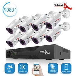 ANRAN 8CH 1080P CCTV Camera Security System Outdoor Home Sur