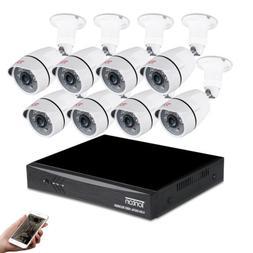 Tonton 8CH 1080P DVR Outdoor Home Surveillance Security Came