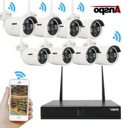 TMEZON Wireless Security Outdoor Camera System 8CH 1080P HD