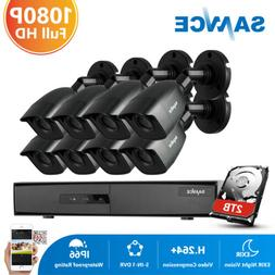 SANNCE 8CH 1080P HDMI DVR HD 1500TVL CCTV Security Camera Sy