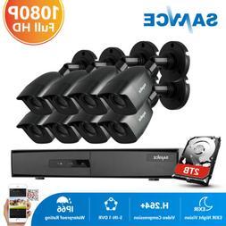 SANNCE 8CH DVR 1080P CCTV Security Camera System Email Alert