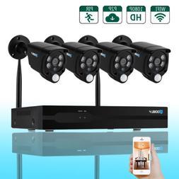 8CH 1080P NVR Outdoor PIR IR-CUT WIFI Camera Home Security S