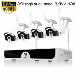 JOOAN 8CH 1080P Wireless HDMI NVR Outdoor IP Camera CCTV Hom