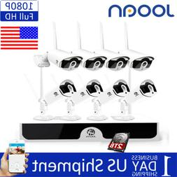 8CH 1080P Wireless NVR Home Outdoor WIFI IP Camera CCTV Secu