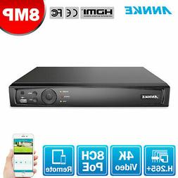 ANNKE 8CH 6MP NVR POE Smart Search Security Home Surveillanc