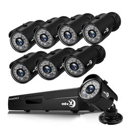 XVIM 8CH 1080P CCTV DVR 1500TVL Outdoor Night Vision Home Se