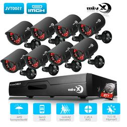 XVIM 1080P HDMI 8CH / 4CH DVR Indoor/Outdoor CCTV Security C