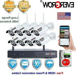 8CH  Outdoor Home Security Camera System Wireless Wifi Surve