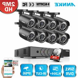 ANNKE 8CH HD 2MP Home Security System 1080P Lite DVR 2000TVL