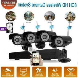 Wireless 4CH WiFi 1080P HD NVR Outdoor IR-CUT Bullet Camera