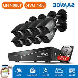 SANNCE 8CH 1080P HDMI DVR 1500TVL HD IR CCTV Video Home Secu