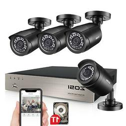 ZOSI 8CH 1080N DVR 1TB HDD Outdoor 720p Home Surveillance Se