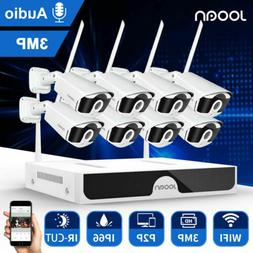8CH Wireless 1080P WiFi Audio CCTV NVR Home Security System