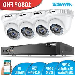 ANNKE 1080P 4CH CCTV DVR H.264+ Outdoor 2MP Home Security Ca