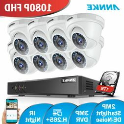 ANNKE 3MP 8CH 5in1 DVR 2MP 1080P CCTV Home Security Camera S