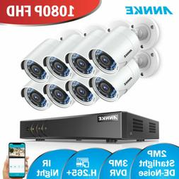 ANNKE 8CH 3MP DVR 8x2MP 1080P Starlight Night Vision Home Se