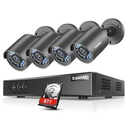 ANNKE 8Channel Security Camera System 1080P Lite H.264+ DVR
