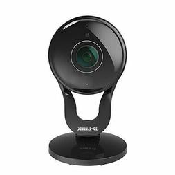 D-link - Wide Lens Indoor Wi-fi Security Camera - Black