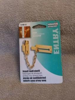 Defender Security Chain Door Guard/Brass Plated/U-9912