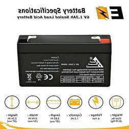 ExpertBattery GE Home Security Alarm System Panel Battery 6V