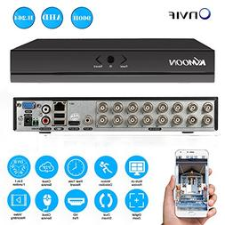 KKmoon 16CH H.264 HD DVR 960H D1 CCTV Network Mobile Motion