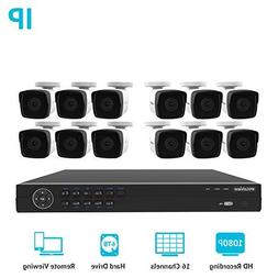 LaView 1080P HD IP 12 Camera Security System 16 Channel PoE