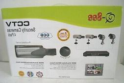 Q-See Surveillance Camera 4 Pack Indoor / Outdoor CCD Color