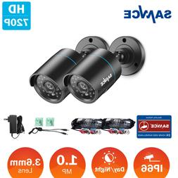 SANNCE 2x HD-TVI 720P CCTV Bullet Camera Home Security 1500T