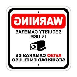 Warning Security Cameras In Use Aviso Camaras Notice Aluminu