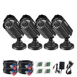 ZOSI 4PK 1280TVL 4-in-1 HD TVI/CVI/AHD/CVBS Security Camera