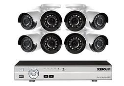 Lorex 16-Channel HD Analog DVR with 2TB HDD, 8 1080p Cameras